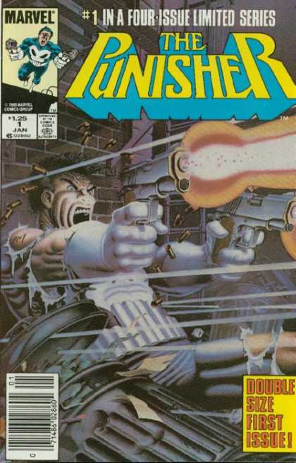 Punisher Mini Series 1 - Four-issue - Limited Series - Yellow - Blue - Guns