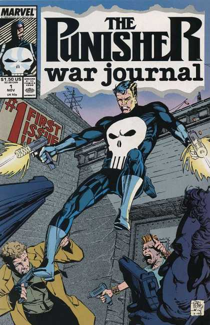 Punisher War Journal 1 - Marvel Comics - First Issue - Guns - Men - Blonde - Carl Potts