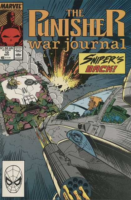 Punisher War Journal 10 - Sniper - Marvel - Army - Tank - Explosion - Jim Lee