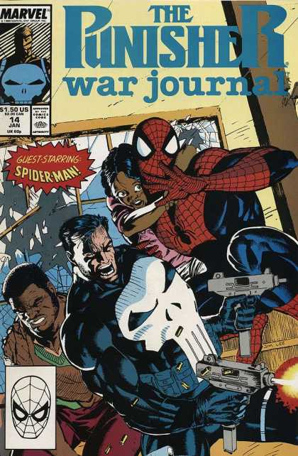 Punisher War Journal 14 - Marvel - Spider-man - Shattered Glass - Kids - Guns - Jim Lee