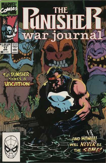 Punisher War Journal 17 - Vacation - Hawaii - Masks - Darkness - Glare - Alex Maleev, Jim Lee