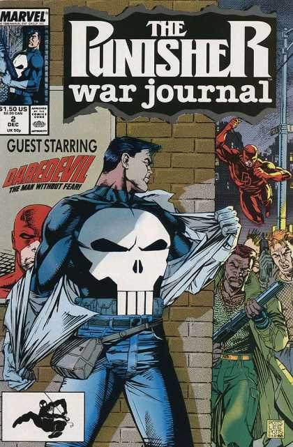 Punisher War Journal 2 - Deaths Head - Daredevil - Shitgun - Fight - Superhero - Carl Potts