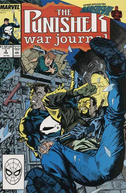 Punisher War Journal 3 - Guns - Stairs - Fist - Building - Stones - Carl Potts