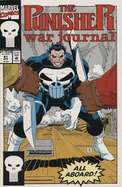Punisher War Journal 41 - Marvel - Skull - Knife - April - Blade - John Romita