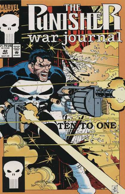 Punisher War Journal 42 - May - 42 - Ten To One - Tommy Gun - Broken Glass - John Romita