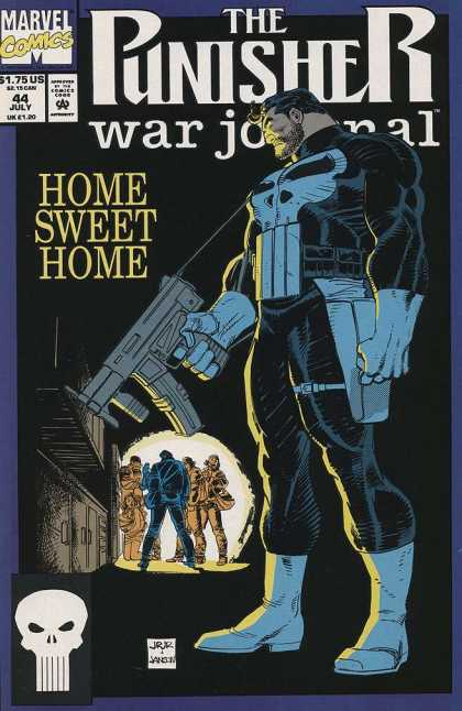 Punisher War Journal 44 - Home Sweet Home - Romita - Gun - Marvel - Skull - John Romita, Klaus Janson