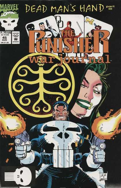 Punisher War Journal 45 - Cards - Punisher - Skulls - Daredevil - Green Hair - John Romita