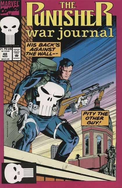 Punisher War Journal 48 - His Backs Against The Wall -- - Pity The Other Guy - Backpack - The Punisher - Roof Top