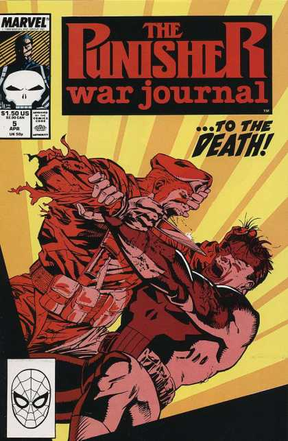 Punisher War Journal 5 - To The Death - Knife - Fight - Beret - Sepia Tone - Jim Lee