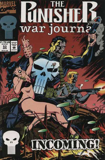 Punisher War Journal 53 - Rifle - Lady Captive - Villian - Skull With Elongated Teeth - Incoming