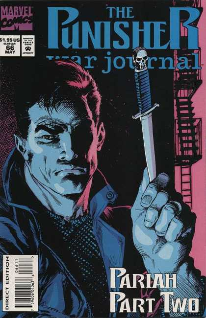 Punisher War Journal 66 - Marvel - Approved By The Comics Code Authority - 195 Us - Knife - Direct Edition