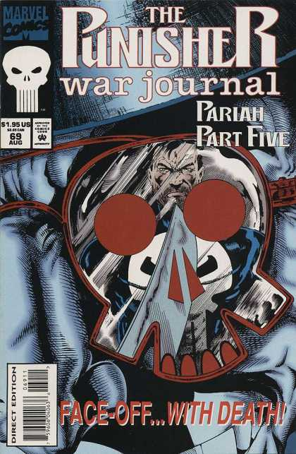Punisher War Journal 69 - Marvel Comics - Pariah Part Five - Superhero - Face-off With Death - Direct Edition