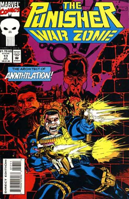 Punisher: War Zone 17 - Marvel - Skull - July - Annihilation - Gun