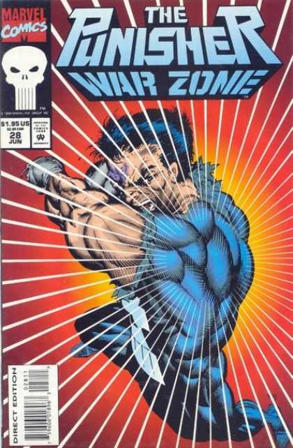 Punisher: War Zone 28 - Marvel Comics - Angry Man - Direct Edition - Blue Suit - Blue Hair