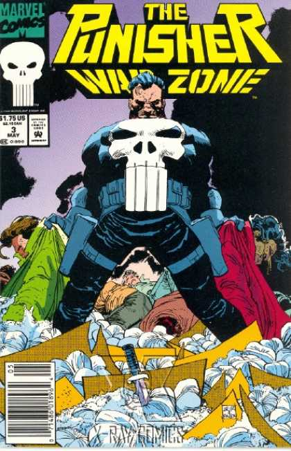 Punisher: War Zone 3 - Knife - Comics - May - Marvel - Skull