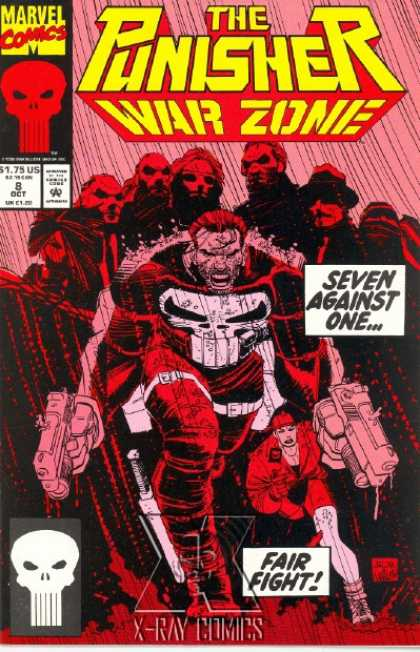 Punisher: War Zone 8 - Marvel Comics - Seven Against One - Against All Odds - Unfair Fight - Skulls