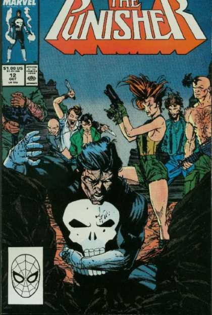 Punisher 12 - Marvel Comics - Mob - Evil - Supernatural - Ghosts - Tim Bradstreet, Whilce Portacio