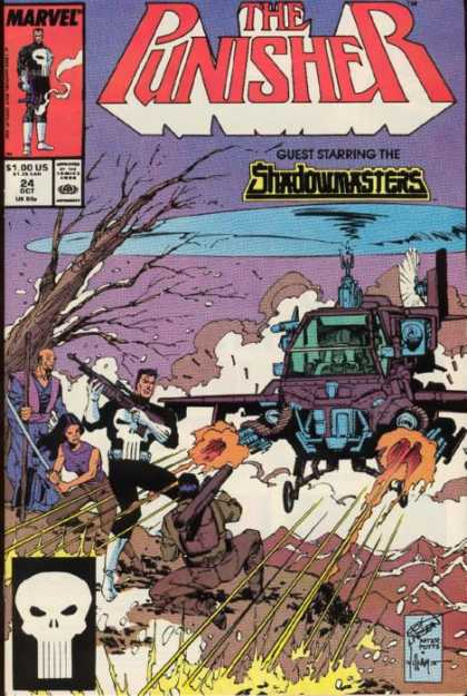 Punisher 24 - Shadowmasters - Helicopter - Sword - Bazooka - Gunfire - Erik Larsen, Tim Bradstreet