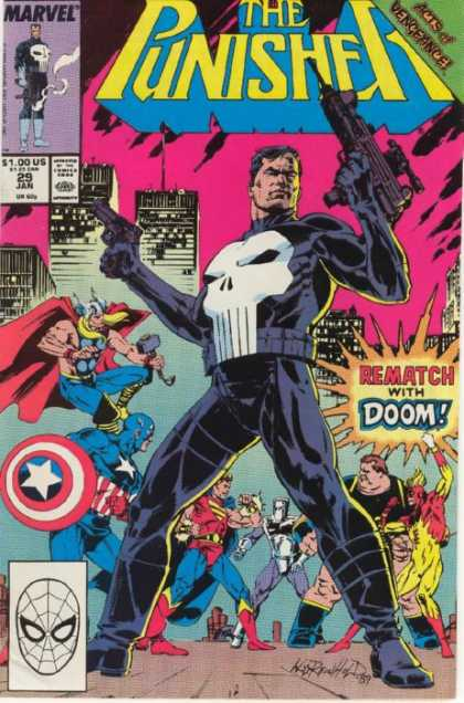 Punisher 29 - Skull - Thor - Captain America - Rematch With Doom - Guns - Bill Reinhold, Tim Bradstreet