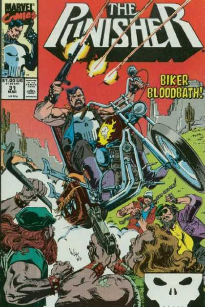 Punisher 31 - Biker Bloodbath - Motorcycle - Guns - Skyll - Cactus - Bill Reinhold, Tim Bradstreet