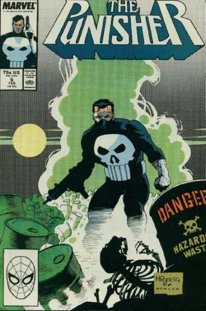 Punisher 6 - Marvel - Hazardous Waste - Skeleton - Barrels - Gas - Mike Mignola, Tim Bradstreet
