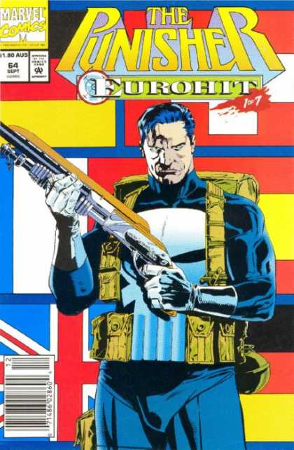 Punisher 64 - Marvel Comics - Eurohit - Shotgun - Approved By Comics Code - Backpack