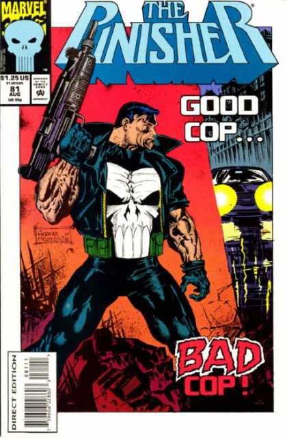 Punisher 81 - Marvel - Good Cop - Gun - Costume - Car