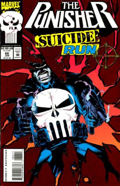 Punisher 86 - Skull - Suicide - Crosshairs - Shooting - Revenge - Michael Golden