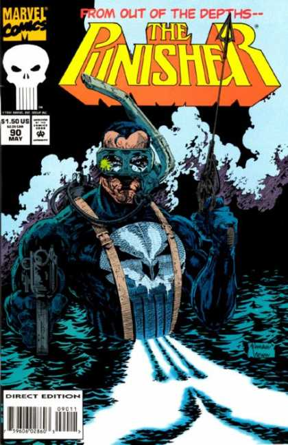 Punisher 90 - From Out Of The Depths - Marvel - 90 May - Scuba - Direct Edition