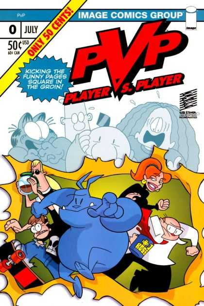 PvP 0 - Kicking The Funny Pages Square In The Groin - Image Comics Group - Only 50 Cents - Funny - Enjoy - Scott Kurtz