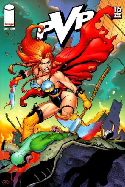 PvP 16 - Image - Weapon - Redhead - Blade - Babe - Frank Cho