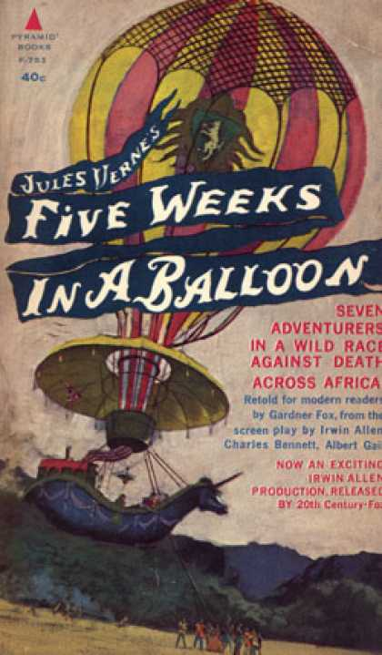 Pyramid Books - Five Weeks In a Balloon - Gardner F. Fox