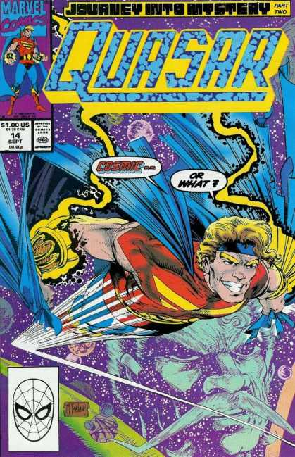 Quasar 14 - Marvel Comics - Marvel - Cosmic - Flying Fast - Space - Todd McFarlane