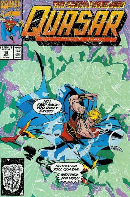 Quasar 18 - Ghost - Fight - Blond Hair - Blue Cape - Red Boots