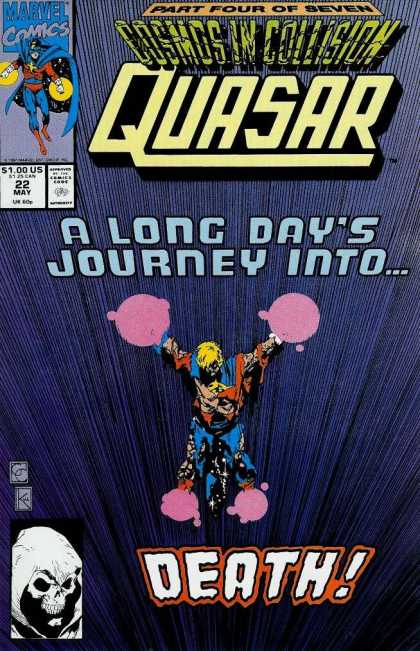 Quasar 22 - Cosmos In Collision Part 4 - Long Days Journey - Superhero - Pink Blobs - Skeletal Face - Greg Capullo