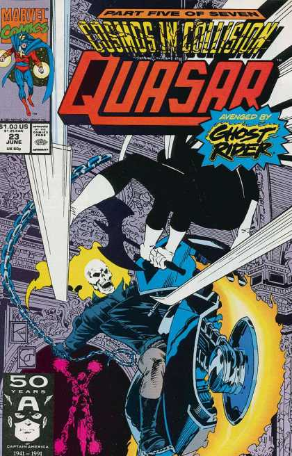 Quasar 23 - Part Five Of Seven - Ghost Rider - Cosmos In Collision - Avenged - Motorcycle - Greg Capullo