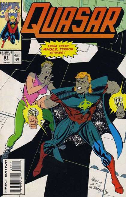 Quasar 51 - Marvel - Comics Code - Woman - Man - Costume