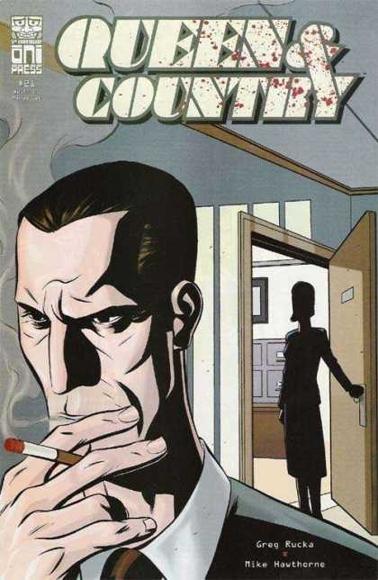 Queen & Country 21 - Queen Comic - Country Comic - Rucka - Hawthorne - Smoking Comic Cover