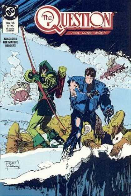 Question 18 - Snow - Snow Mobile - Bow And Arrow - Cliff - Fight - Bill Sienkiewicz, Denys Cowan