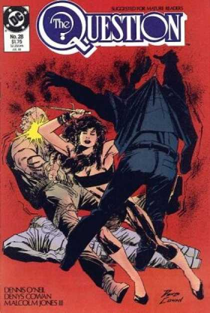 Question 28 - Dc - The Question - Horror - Female Fighter - Mature Comics - Denys Cowan