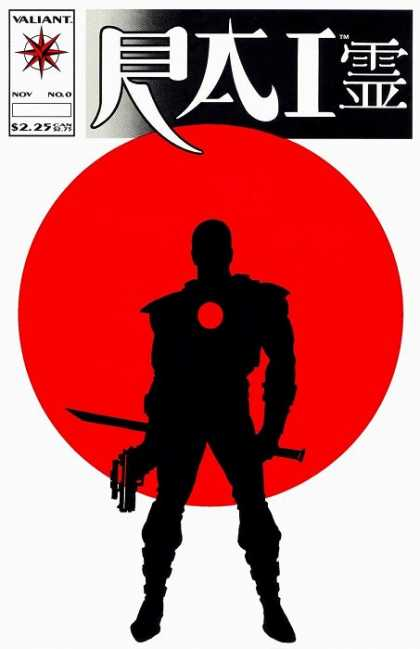 Rai 0 - Man With Sword And Pistol - Valiant - Red Circle - White Background - 225 - David Lapham