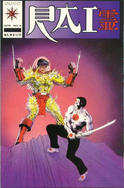 Rai 2 - Chinese Cover - Two Man - Fighting Schen - On The Rock - Swords - Bob Layton
