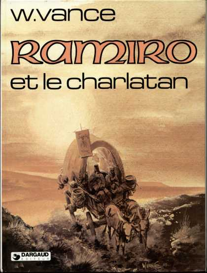 Ramiro 1 - Covered Wagon - Donkeys - Barren Land - W Vance - Dargaud