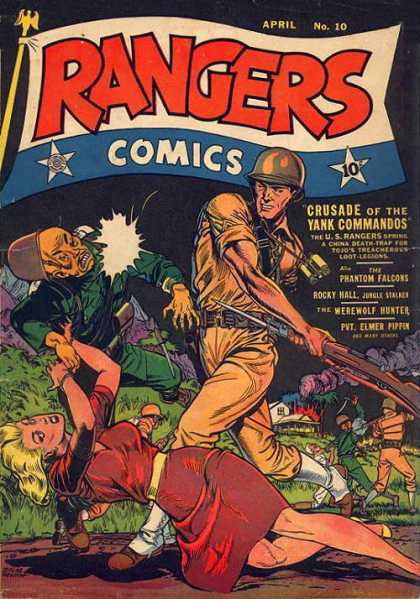 Rangers 10 - Crusade Of The Yank Commandos - The Phantom Falcons - Rocky Hall - The Werewolf Hunter - Pvt Elmer Pippen