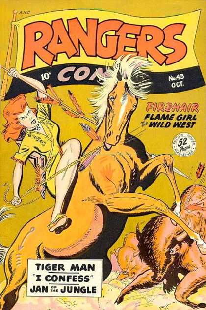 Rangers 43 - Western - Firehair - Tiger Man - I Confess - Jan Of The Jungle