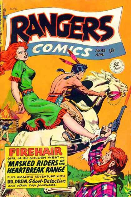 Rangers 52 - No 52 Apr - Firehair - Girl Of The Golden West - Masked Riders Of The Heartbreak Range - Dr Drew Ghost Detective