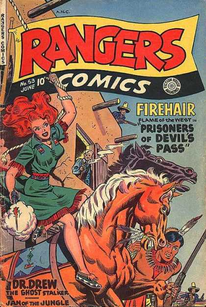 Rangers 53 - Firehair Flame Of The West - Prisoners Of Devils Pass - Horse - Dress - Rope