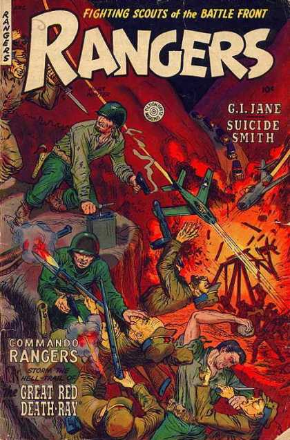 Rangers 69 - Fighting Scouts Of The Battle Front - Gijane - Suicide Smith - Great Red Death-ray - Commando Rangers