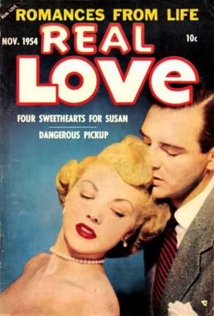 Real Love 64 - Man - Woman - Blonde Woman - Red Lips - 1954