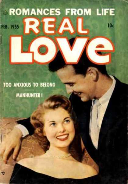 Real Love 66 - Romances From Life - Feb1955 - Too Anxious To Belong Manhunter - Tie - Black Coat